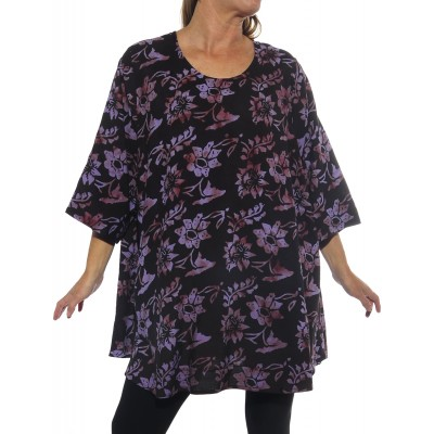 Starry Flower Purple Swing Top