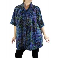 Batik Cloudburst New Tunic Top