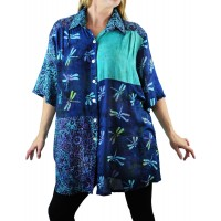 Batik Dragonfly COMBO New Tunic Top -Volie