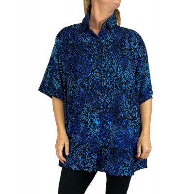 Women's Plus Size Tunic - Deep Forest
