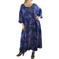 Women's Plus Size Dress - Batik Rhapsody Delia W/Pockets