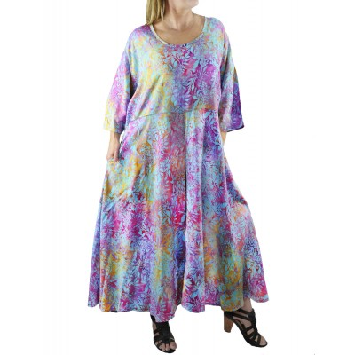 Dancing Sage Batik Delia Dress with Pockets
