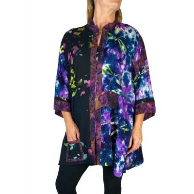 Women's Plus Size Blouse  - Dusk Purple Combo Orinda