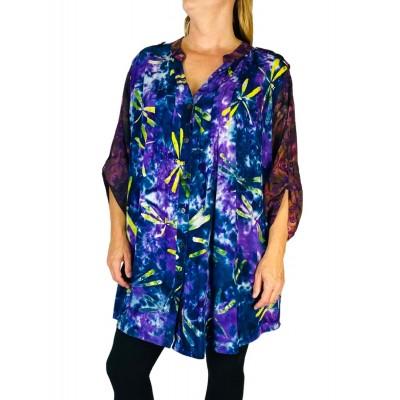 Women's Plus Size Blouse - Dusk Purple Combo Katherine