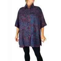 Women's Plus Size Tunic - Fuchsia Lady