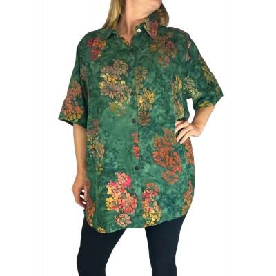 Women's Plus Size Tunic - Green Fields