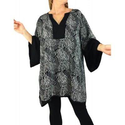 Havana Nights Black Combo Linda Blouse