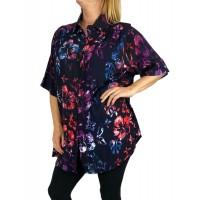 0X Women's Plus Size Tunic - Hibiscus Flower (exchange)