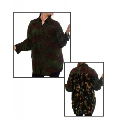 Cool Green COMBO Long Sleeve Big Shirt