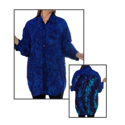 Prism Blue COMBO Long Sleeve Big Shirt