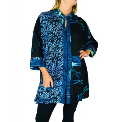 Women's Plus Size Blouse  - Maldives Combo Orinda