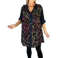 Women's Plus Size Blouse -Maple Leaf Combo Katherine