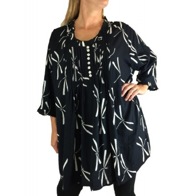 Women's Plus Size - Pleated Dragonfly Monica