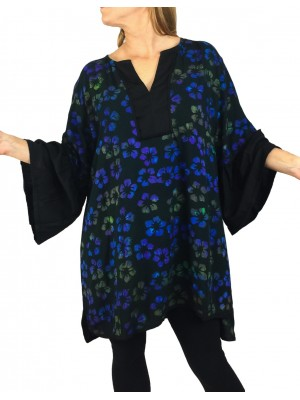 Oahu Black Combo Linda Blouse