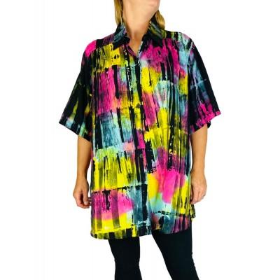 0X Women's Plus Size Tunic - Paint Strokes (exchange)