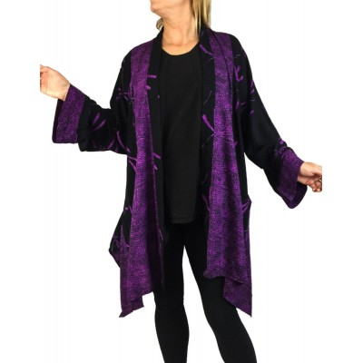 Purple Dragonfly Combo Broadway Jacket