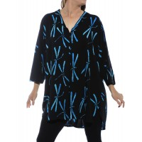 Blue Dragonfly Santa Barbara Blouse