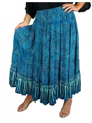 Batik Lighter-Weighted-Gauzy-Sea-Breeze-Tiered-Skirt