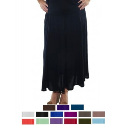 Solid CRINKLE RAYON or FLAT RAYON A Line Skirt