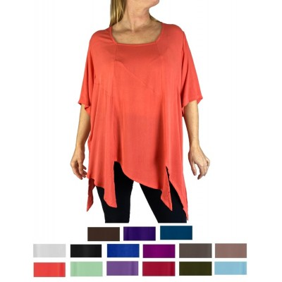 Solid CRINKLE RAYON or FLAT RAYON Carmel Blouse