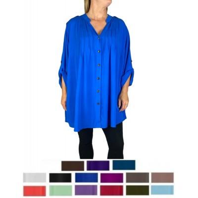 Women's Solid Katherine Blouse 15 Colors