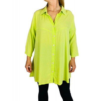 0X Solid CRINKLE RAYON MINT GREEN Uptown Blouse (exchange)
