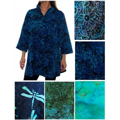 ALL PRINT Uptown Blouse (A)