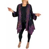 Women's Plus Size Jacket - Violet Dragonfly Combo Broadway