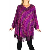 Violet Vine Santa Fe Fringe Swing Top Long or 3/4 Sleeve