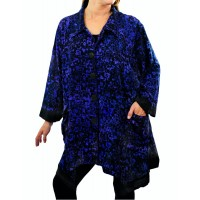 Women's Plus Size Jacket - Bali Blue COMBO Zinnia